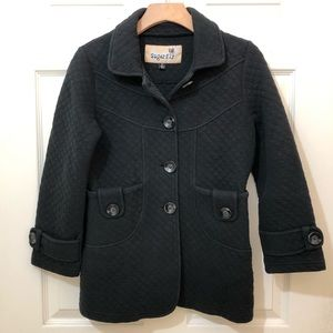 Sugarfly Girls Black Jacket Coat size XL 14/16